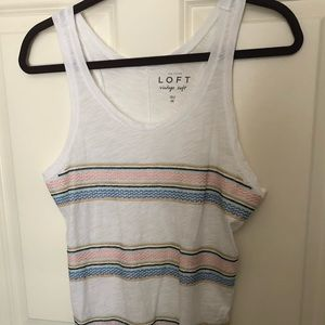 Loft Tank with embroidery - size M - like new!
